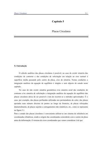 Capítulo 5 Placas Circulares