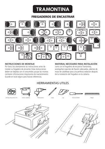 fregaderos de encastrar herramientas utiles - Tramontina