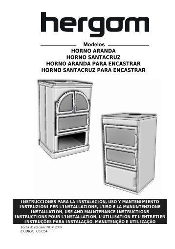 Modelos HORNO ARANDA HORNO SANTACRUZ HORNO ...