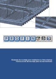 Instrucciones de montaje para techos inclinado - Profiness Schrauben