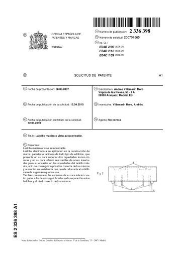 Informe del estado de la técnica - Ladrillo Autocentrable