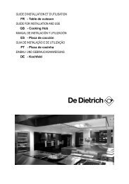 GUIDE D'INSTALLATION ET D'UTILISATION FR ... - De Dietrich
