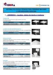 CERÁMICA – Lavabos, platos de ducha e inodoros