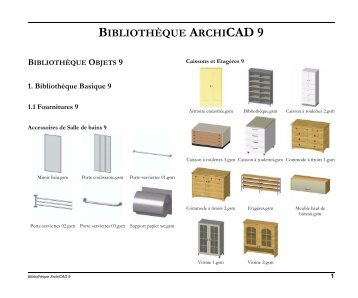 bibliotheque archicad 9