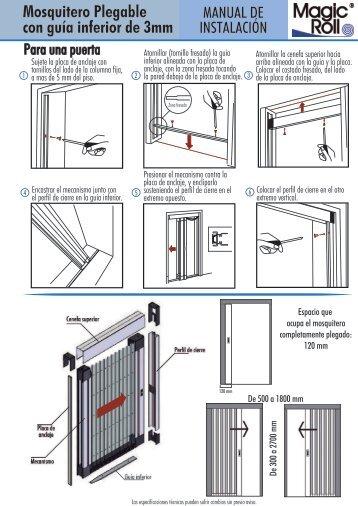 Manual de instalacion plegable - Magic Roll