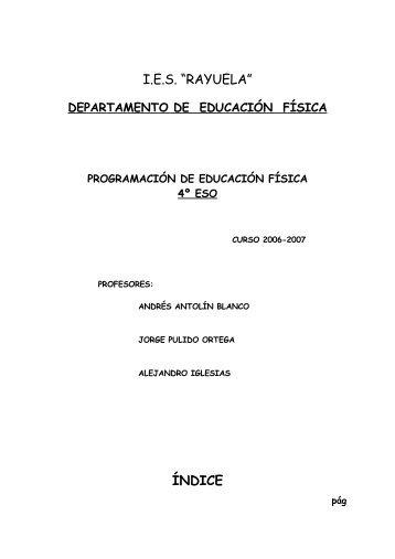 objetivos generales del área de educación física - IES Rayuela
