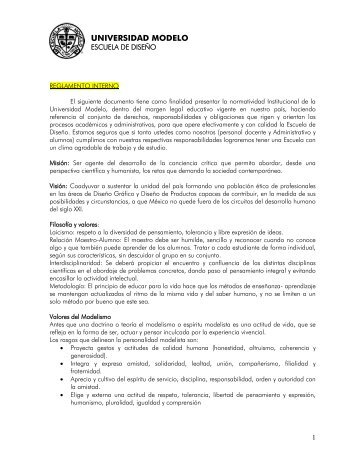 Reglamento Escolar - Universidad Modelo