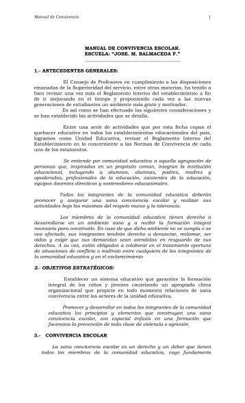 MANUAL DE CONVIVENCIA ESCOLAR - Daem de Futrono