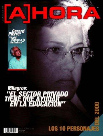 """Page 1 .Gerard Ieffe.' """"Haití rumbo a la dictadura"""" Milagros: 3 W M N ..."""