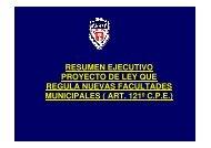 Resumen Ejecutivo Proyecto de Ley ART. 121 - Asociación Chilena ...