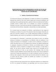 significado que le dan los profesores al uso de las tics - Colombia ...