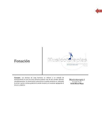 Fonación - Musicoterapias