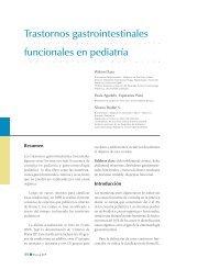 Trastornos gastrointestinales funcionales en pediatría