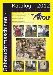 Gebrauchtmaschinen - SECOND Katalog 2012