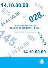 Manual de codificación de partes de accidente de trabajo - Asepeyo