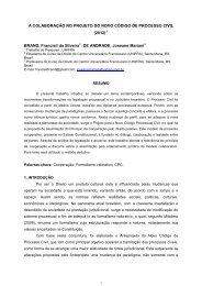 a colaboração no projeto do novo código de processo civil - Unifra