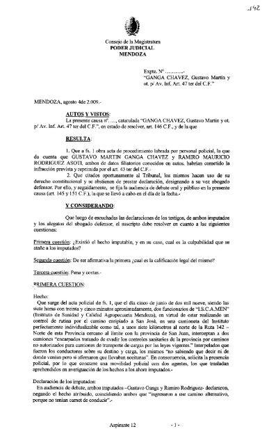 Ver - Poder Judicial de Mendoza