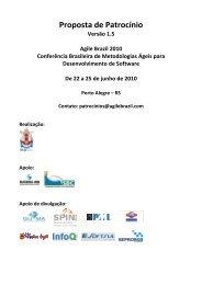 Proposta de Patrocínio - Agile Brazil 2013