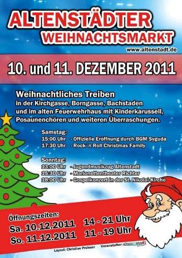 15:30 Uhr Der Weihnachtsmann kommt - und verteilt ... - Altenstadt