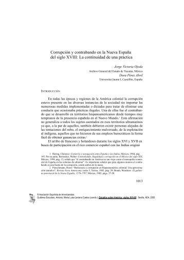 Corrupción y contrabando en la Nueva España del siglo XVIII: La ...