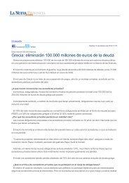 Grecia: eliminarán 100.000 millones de euros de la deuda