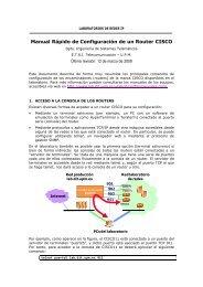 Manual Rápido de Configuración de un Router CISCO - Web del ...
