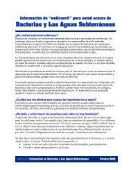 Bacterias y Las Aguas Subterráneas - Water Systems Council