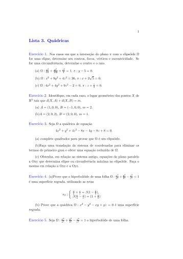 Geometria Analitica II(Lista3)