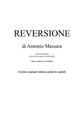 Reversione proff primi 3 capitoli ver.1 - Antonio Massara