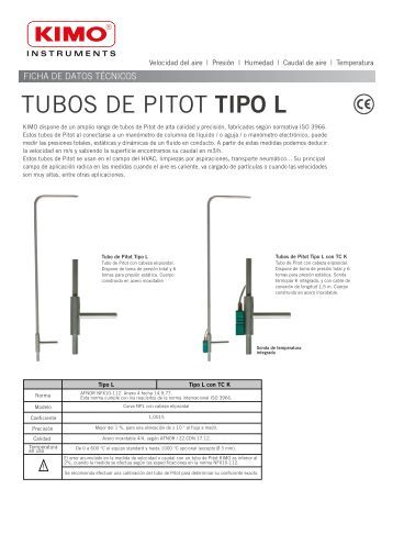 TUBOS DE PITOT TIPO L - EQUIPOS KIMO