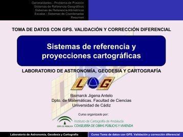 Sistemas de referencia y proyecciones cartográficas.