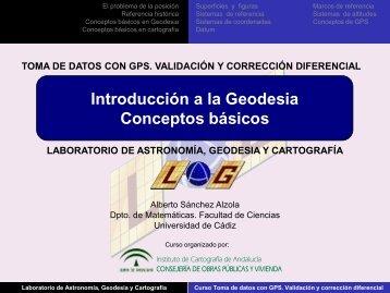 Introducción a la Geodesia. Conceptos básicos. - Laboratorio de