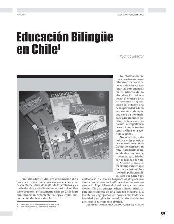Educación Bilingüe en Chile - Revista Docencia