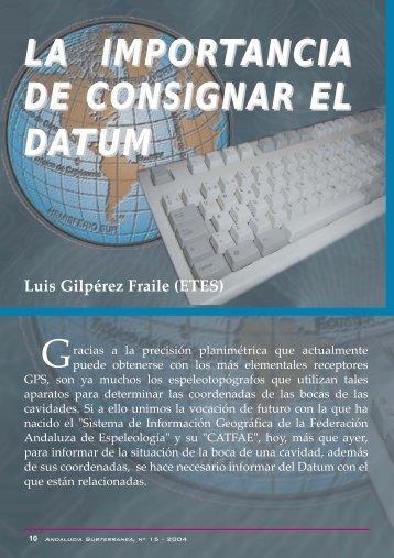 LA IMPORTANCIA DE CONSIGNAR EL DATUM