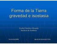 Forma de la Tierra gravedad e isostasia - UNAM