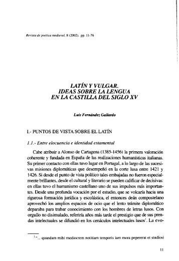 Latín y Vulgar. Ideas sobre la Lengua en la Castilla del Siglo XV.pdf