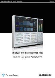 Manual de instrucciones del Master X5 para ... - TC Electronic