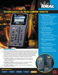Certificadores de Rede LANTEK®6/6A/7G - ideal industries