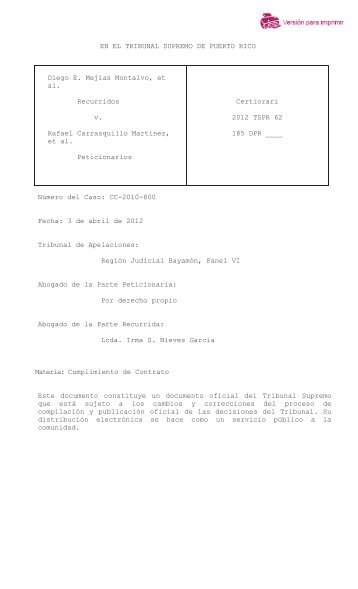 2012 TSPR 62 - Rama Judicial de Puerto Rico