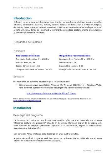 Descarga gratuita del Manual de Usuario en PDF - Hofmann