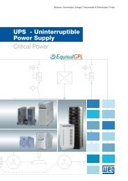 UPS - Uninterruptible Power Supply Critical Power - Weg