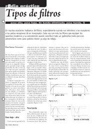 Tipos de filtros - Radio-Noticias, revista digital de radioafición