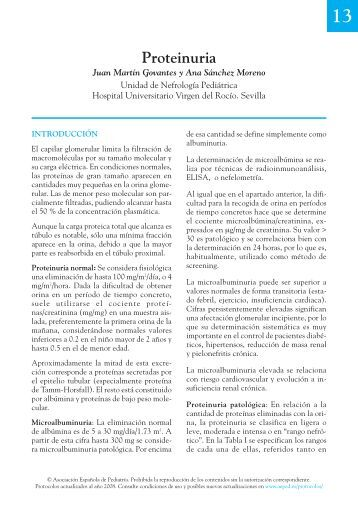 13. Proteinuria - Asociación Española de Pediatría