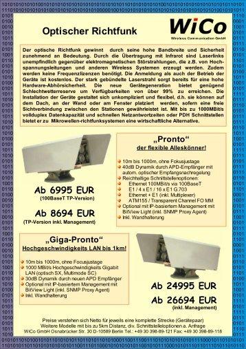 Laserlink Pronto - Wireless Communication GmbH