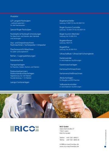 Unseren Gesamtkatalog downloaden (PDF / 6,87 MB) - RICO GmbH