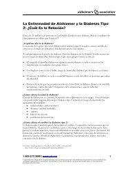 La Enfermedad de Alzheimer y la Diabetes - Alzheimer's Association