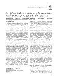 La diabetes mellitus como causa de insuficiencia renal ... - Nefrología