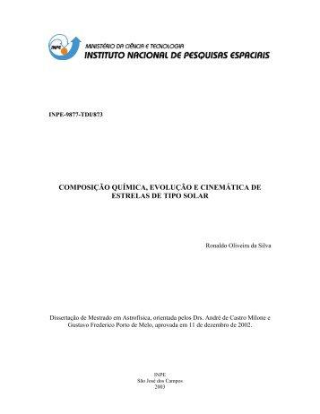 Download - Divisão de Astrofísica - Inpe