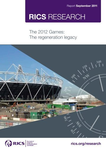 The 2012 Games: The regeneration legacy - International Seminar
