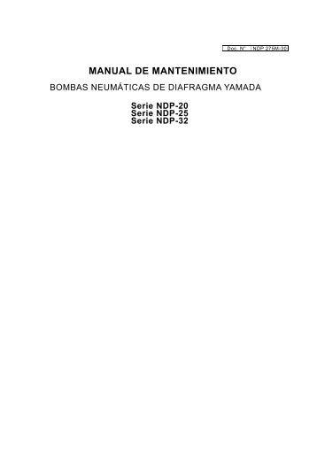 MANUAL DE MANTENIMIENTO - Yamada America, Inc.